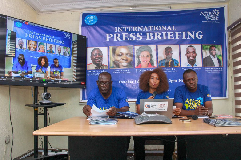Africa water activists seek resistance to corporate privatisation of water as World Bank meets